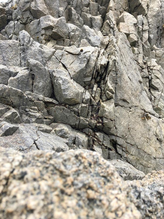 Beautiful texture of rocks  small cliff stock image