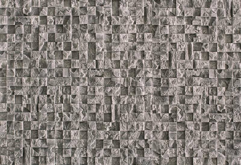 Beautiful textured stone mosaic for repair of gray natural stone stock photos