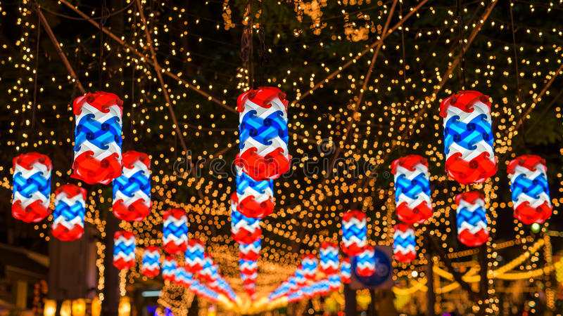beautiful thai flag lamp or lantern royalty free stock photography
