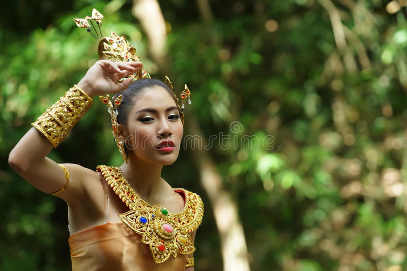 Download Beautiful Thai Lady In Thai Traditional Drama Dress Stock Image - Image of drama, girl: 33579655
