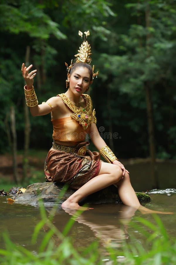 Download Beautiful Thai Lady In Thai Traditional Drama Dress Stock Image - Image: 33598061