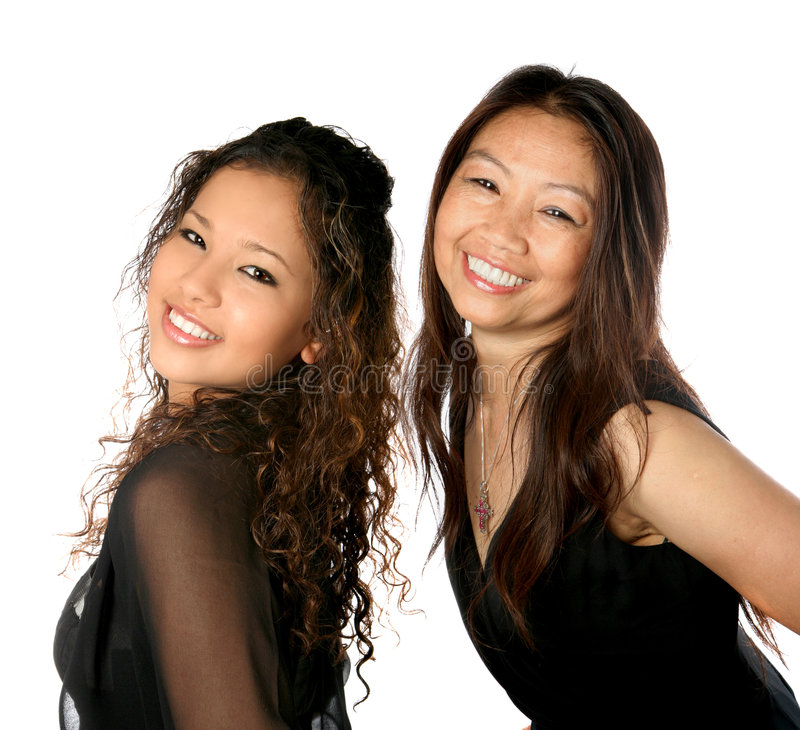 Download Beautiful Thai Mom With Daughter Stock Image - Image: 4360813