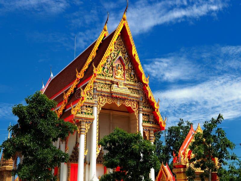 Beautiful Thai temple in peaceful environment stock image