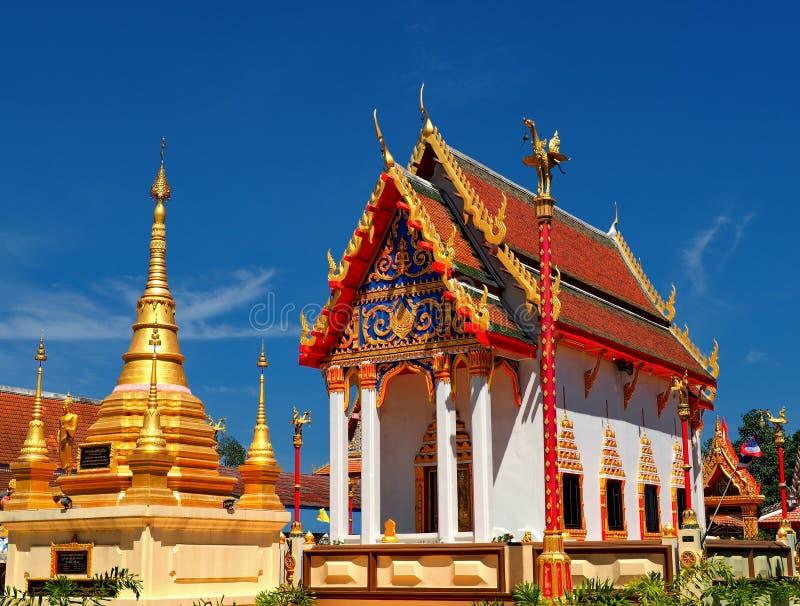 Beautiful Thai temple Wat Sang Lan bathed in morning light stock photos
