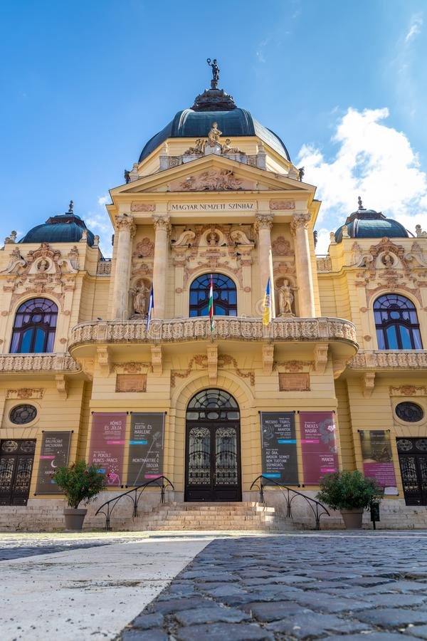 Beautiful theater from a famous hungarian city Pecs. 27. 08. 2018 Hungary royalty free stock photo