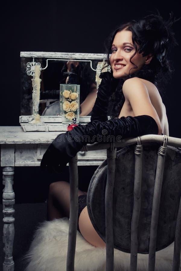 Beautiful theatre actress royalty free stock photos