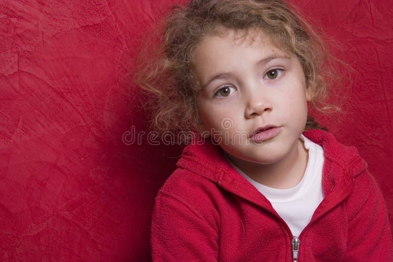 Beautiful thoughtful child royalty free stock photography