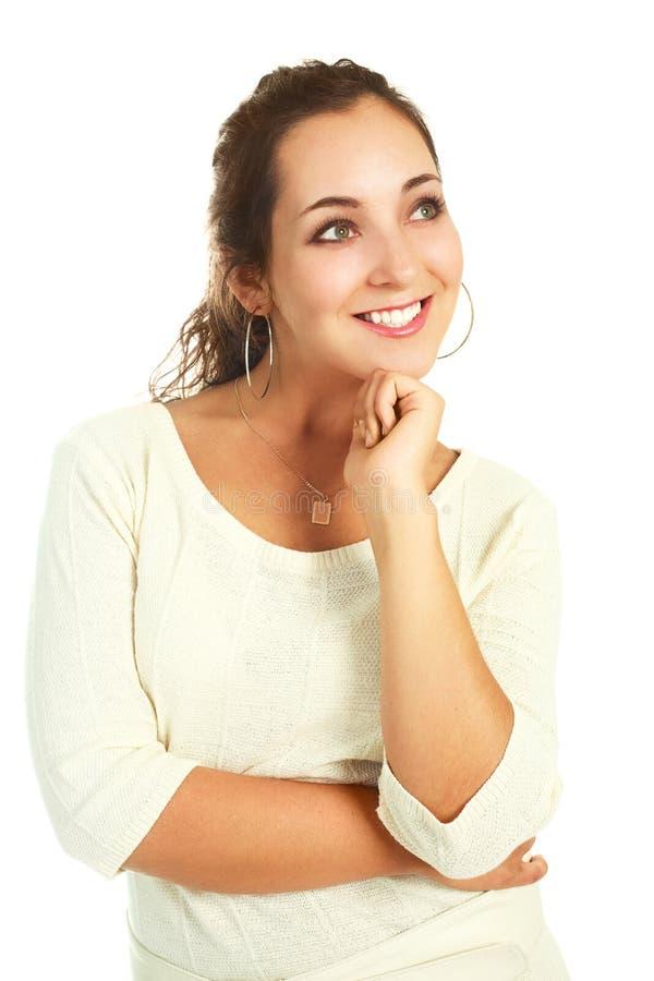 Download Beautiful thoughtful woman stock image. Image of chin - 9632409