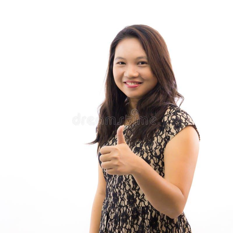 beautiful thumb up woman стоковое изображение rf