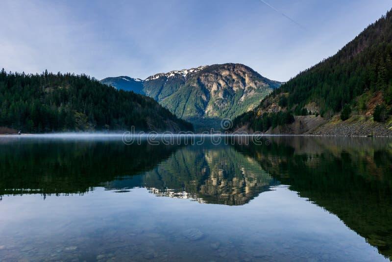 Beautiful Thunder Arm of Diablo lake in the mountains Washington state USA.  royalty free stock photos