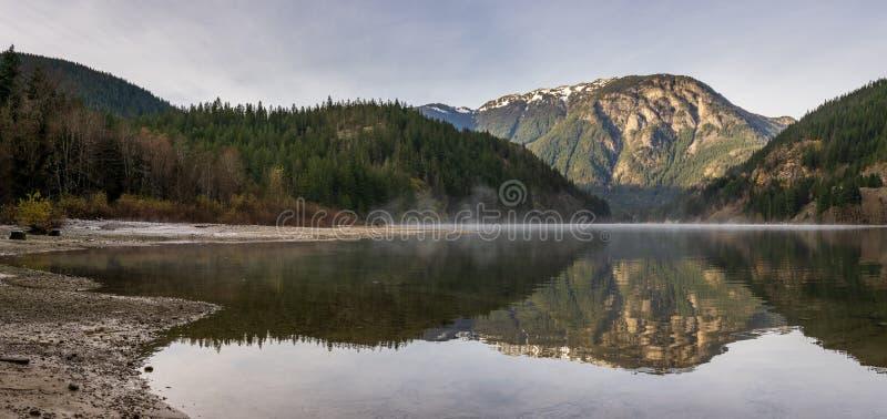 Beautiful Thunder Arm of Diablo lake in the mountains Washington state USA.  stock photos