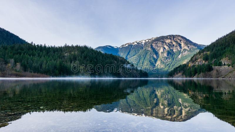 Beautiful Thunder Arm of Diablo lake in the mountains Washington state USA.  royalty free stock images