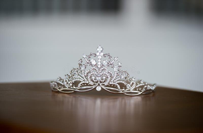 Beautiful tiara. On the table royalty free stock photos
