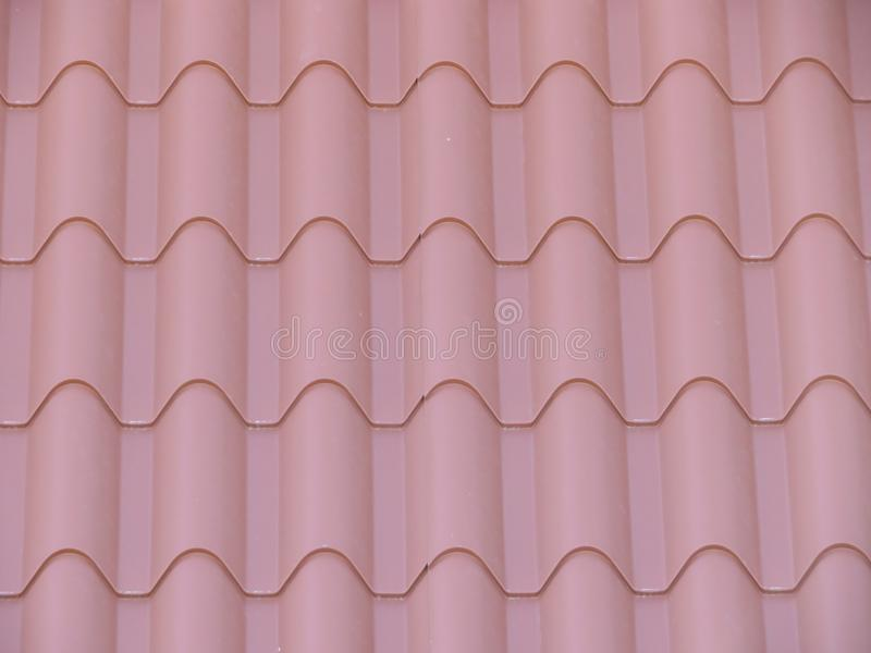 Beautiful tiles to cover the house of rain and cold stock image