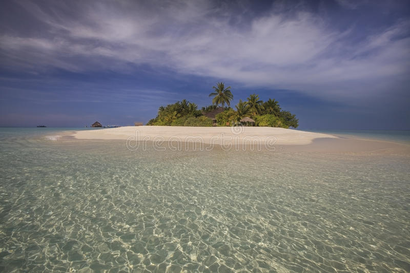 Beautiful tiny island. Indian ocean. Maldives. stock images