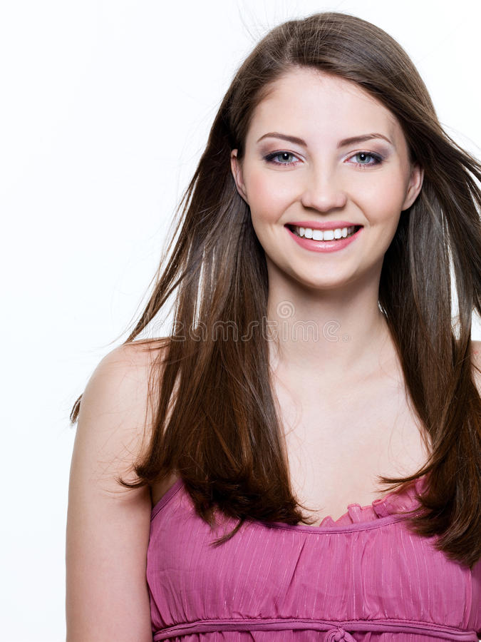 Download Beautiful Toothy Smiling Woman Stock Image - Image of straight, space: 13876383