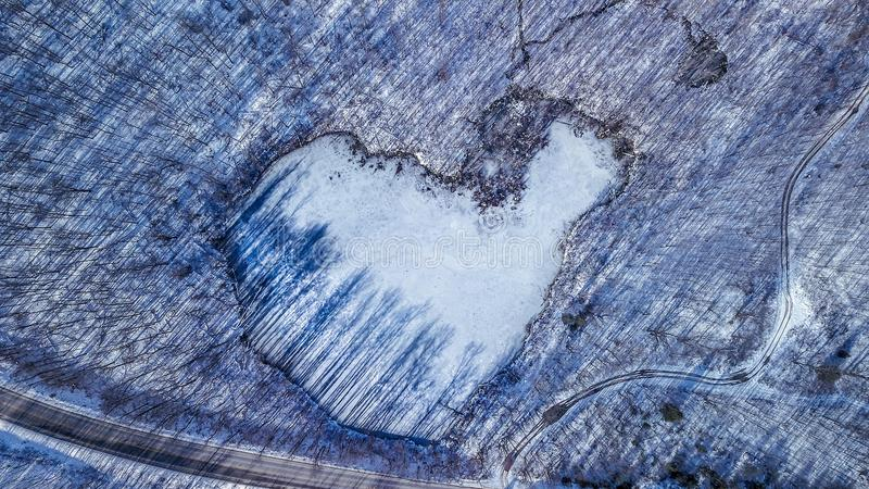 The heart of The Winter royalty free stock photography