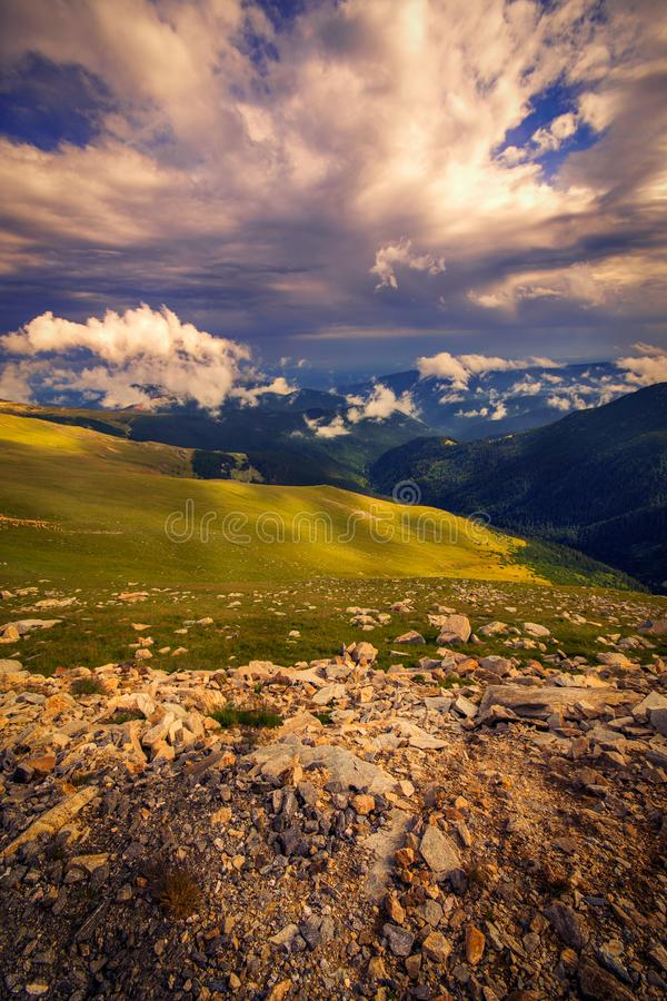 Free Beautiful Top View From The Transalpina Road With Rocks In The F Royalty Free Stock Photos - 125773508