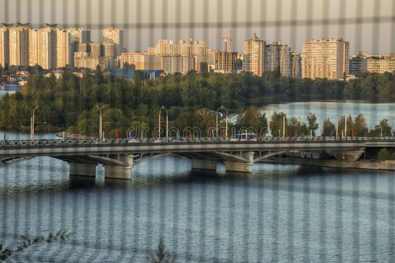 Beautiful top view on the panorama of the city royalty free stock images