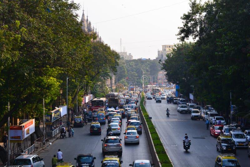 Traffic at Cst Mumbai stock photos