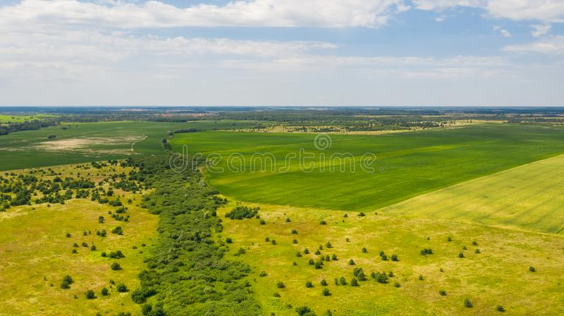 Top view of Ukrainian landscape. Natural background on a sunny day. Beautiful top view of Ukrainian landscape. Natural background on a sunny day. Photo of the royalty free stock photos