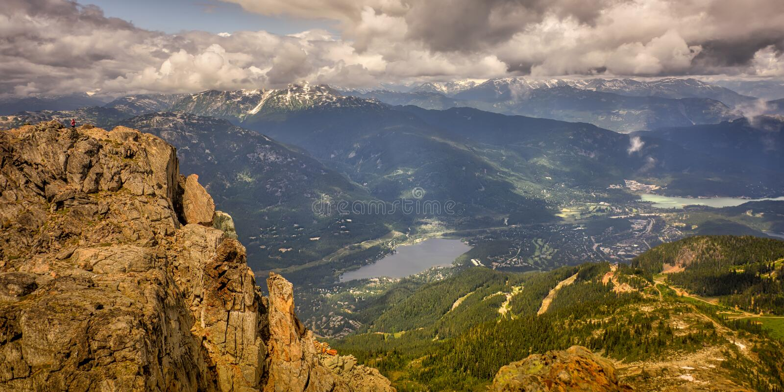 Beautiful top whistler mt BC Canada. Beautiful mountain sky landscape scence stock photos