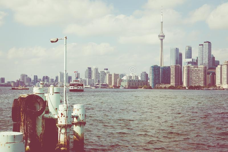 Beautiful Toronto`s skyline over lake. Toronto, Ontario, Canada. Beautiful Toronto`s skyline over lake. Toronto, Ontario, Canada stock photo