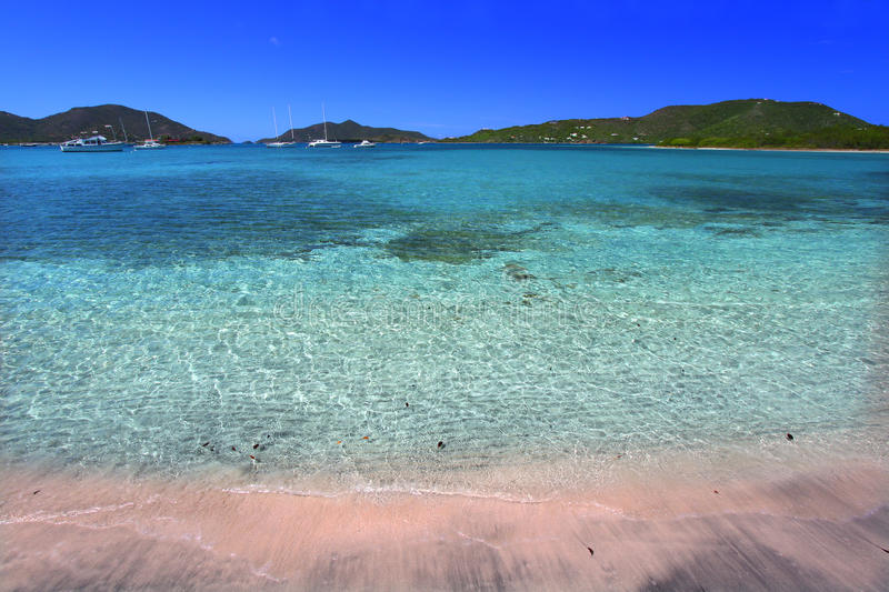 Beautiful Tortola - Virgin Islands. View of the Caribbean island Tortola - British Virgin Islands stock image