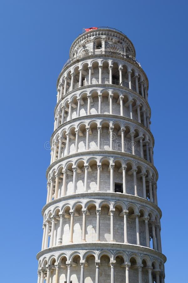 Beautiful tower Pisa tower in Italy Tuscany Europe. Beautiful tower white marble Pisa tower  in Italy Tuscany Europe royalty free stock image