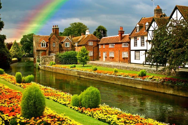 Beautiful town gardens stock images