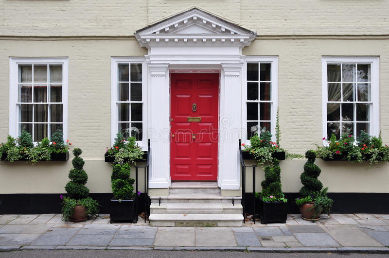 Beautiful Town House. Exterior of a Luxury Town House stock image