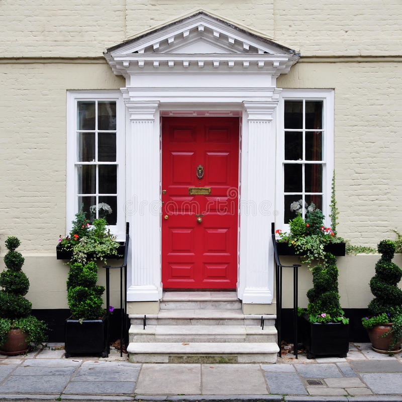 Beautiful Town House. Exterior of a Luxury Town House royalty free stock photography