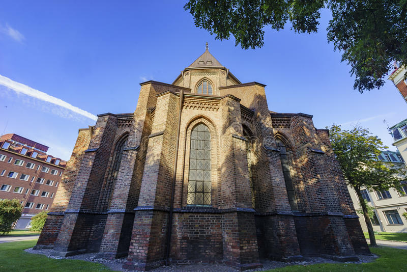 The beautiful Tradesmen's Chapel. The beautiful and historical Tradesmen's Chapel of Malmo, Sweden stock photography