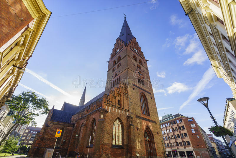 The beautiful Tradesmen's Chapel. The beautiful and historical Tradesmen's Chapel of Malmo, Sweden royalty free stock images