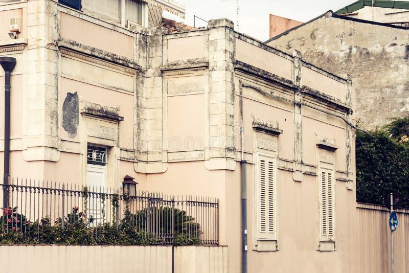 Beautiful Acitrezza, Catania, Sicily, Italy. Beautiful traditional architecture of Acitrezza, Catania, Sicily, Italy stock photo