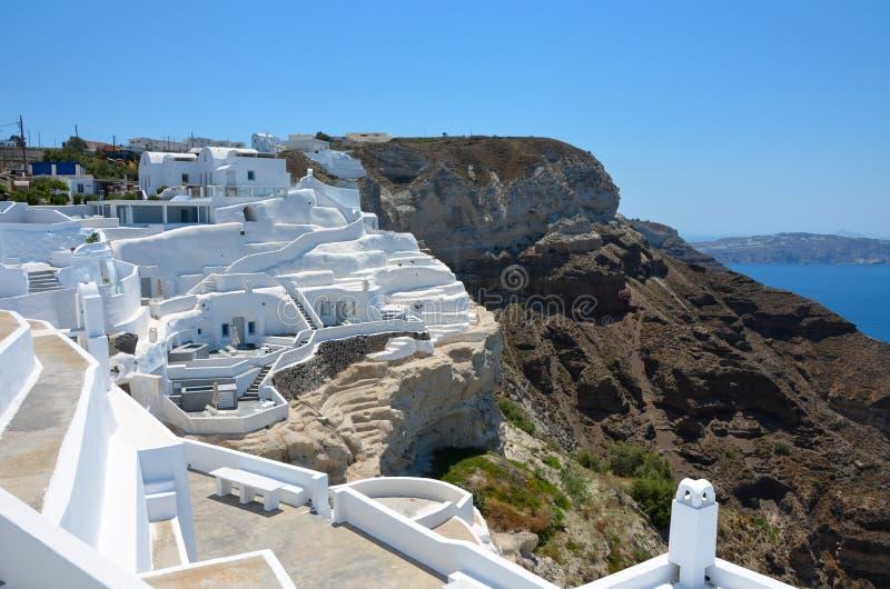 Beautiful traditional cycladic architecture on Santorini Island stock photos