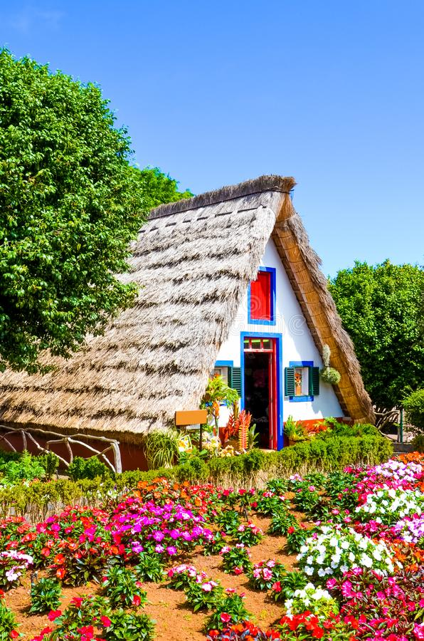 Free Beautiful Traditional House In Santana, Madeira, Portugal. Wooden, Triangular Houses Represent A Part Of Portuguese Heritage. Royalty Free Stock Image - 168650886