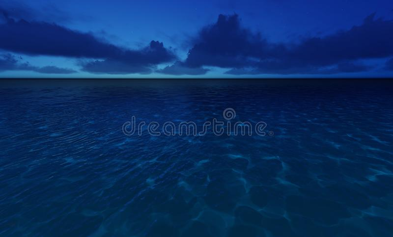 Beautiful tranquil natural vacation seascape stock illustration
