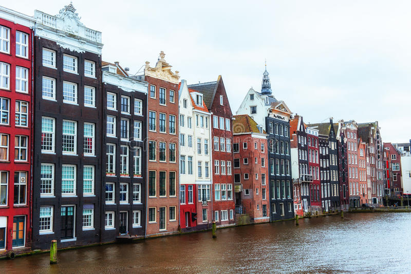 Beautiful tranquil scene of the city Amsterdam. Beautiful tranquil scene of the city of Amsterdam. Amsterdam is the capital and most populous city in stock photo