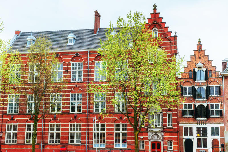 Beautiful tranquil scene of the city Amsterdam. Beautiful tranquil scene of the city of Amsterdam. Amsterdam is the capital and most populous city in royalty free stock photos