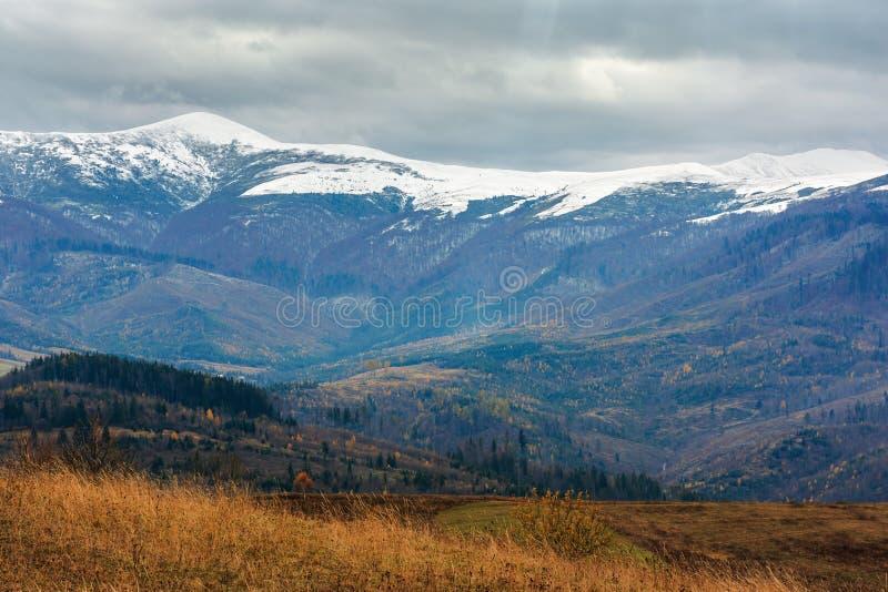 Beautiful transcarpathian landscape in november royalty free stock photography
