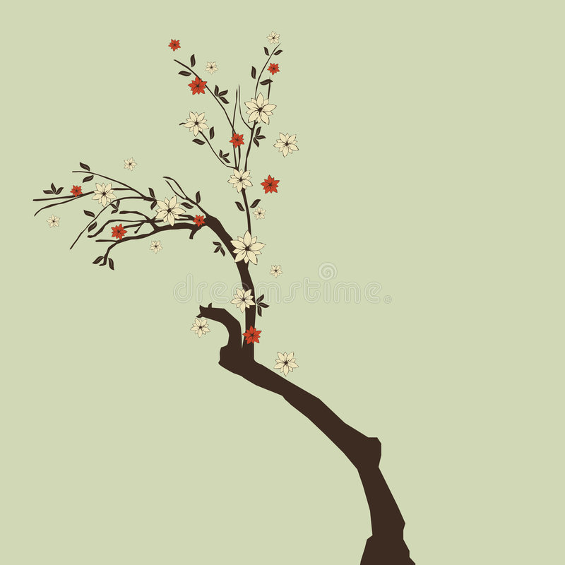 Download Beautiful Tree With Flowers Stock Vector - Image: 8943365