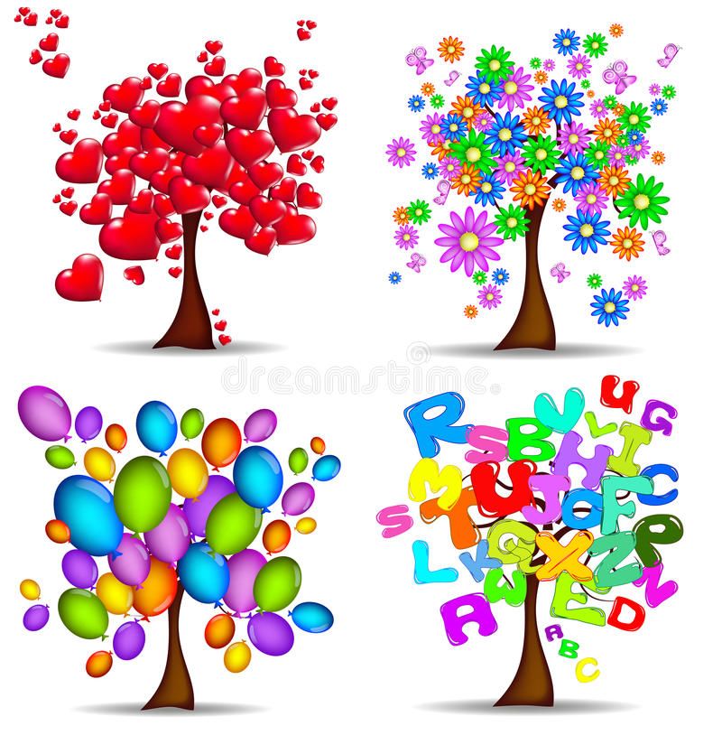 Beautiful trees for all occasions stock photography