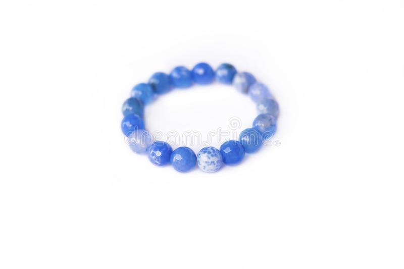 Blue stone bracelet stock photos
