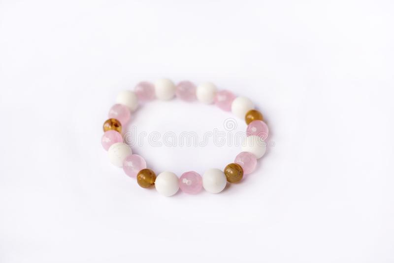 pink stone bracelet royalty free stock photos