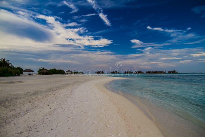 Beautiful tropical beach landscape in Maldives stock photo