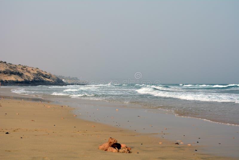Beautiful tropical beach on paradise Island. Canary Island Fuerteventura Spain. stock images