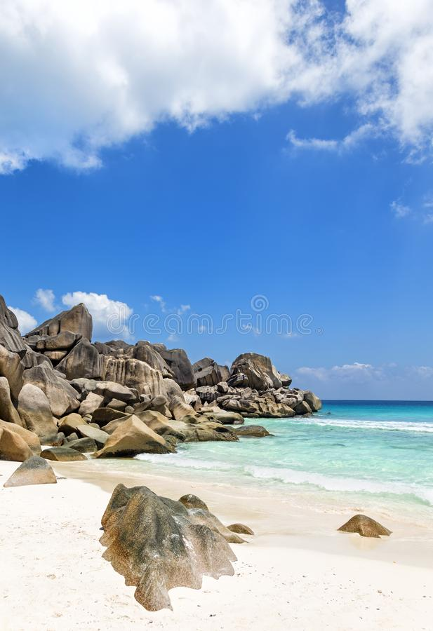 Beautiful tropical beach Seychelles islands royalty free stock images