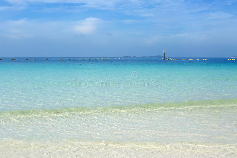 Beautiful tropical blue sea landscape. royalty free stock photography