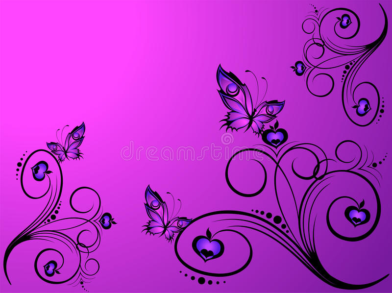 Beautiful tropical butterfly royalty free illustration